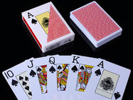 China RUITEN Plastic Invisible Playing Cards / Red Color Marked Poker Cards factory