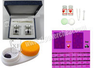 China Dark Purple Invisible Ink And Glasses Level C Poker Contact Lenses factory