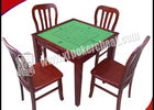 China Wooden Square Marked Playing Cards Perspective Table With Hidden Camera factory