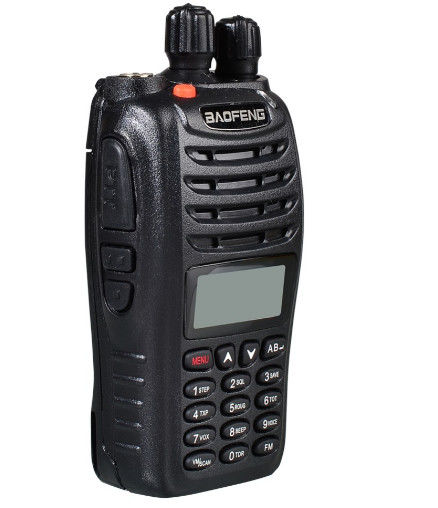 Black Gambling Accessories Dual Band Two Way Radio Walkie Talkie 136 - 174MHz UV-B5