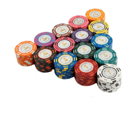 20PCS / Lot Poker Chips 14g Clay Coin Baccarat Texas Hold'em Poker Set