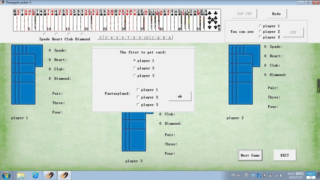 IOS Pineapple Game Poker Analysis Software For Poker Card Reader