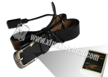 China Leather Belt Camera Poker Scanner For Invisible Bar Codes Marked Playing Cards factory