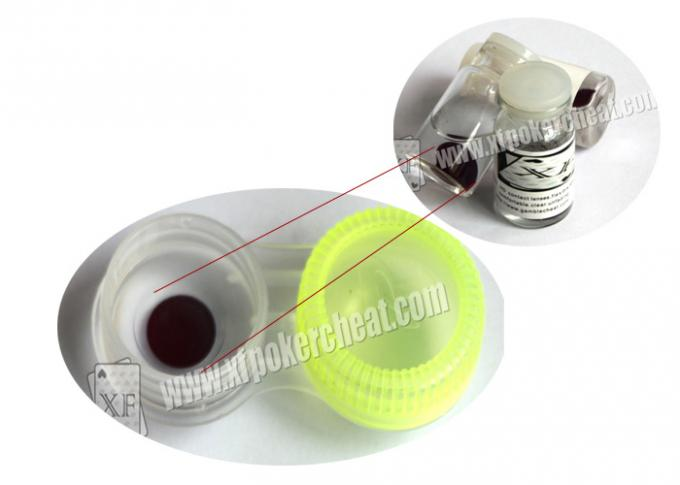 Gambling Cheat 9mm Invisible Ink Contact Lenses  For Invisible Playing Cards