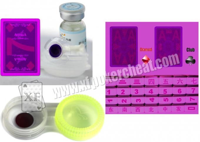 Invisible Marked Playing Cards Purple UV Contact Lenses For Magic Show