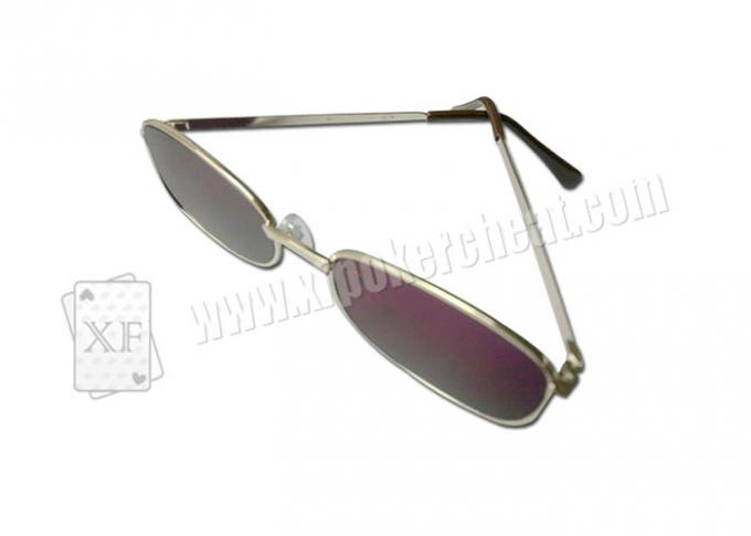 Metal Side Plastic Purple Perspective Glasses For Invisible Marked Cards