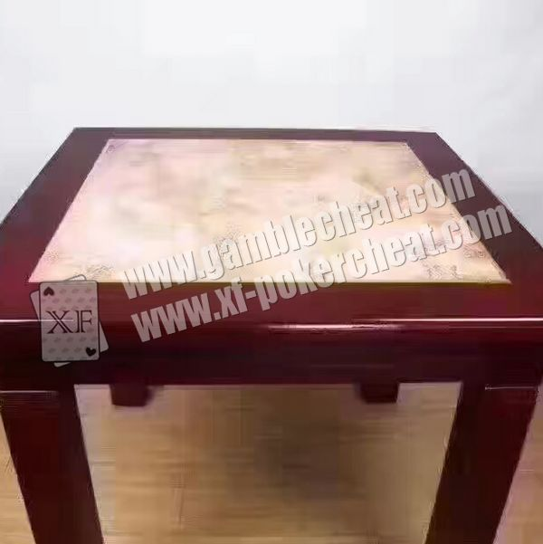 Perspective Table With Special Material To See Through Normal Playing Cards