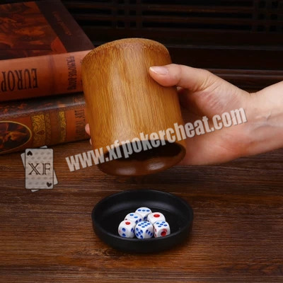 Colorful Gamble Dice / Trick Magic Dice With Radio Wave and Scanning Cup