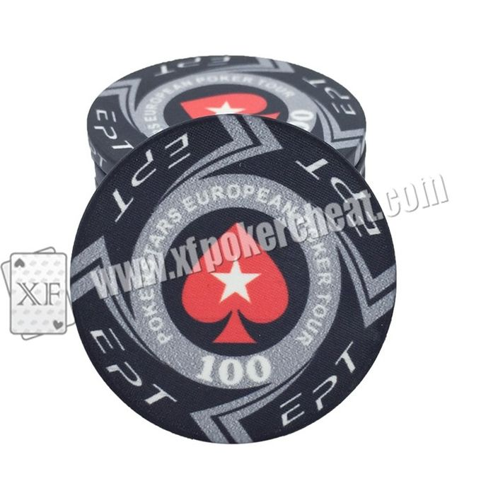 Stainless Steel Gambling Chips With Mini Camera For PK S7 Poker Analyzer Device